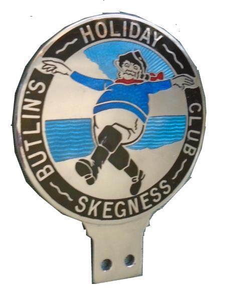 butlins skegness car badge