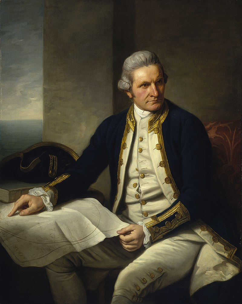 official portrait of captain cook
