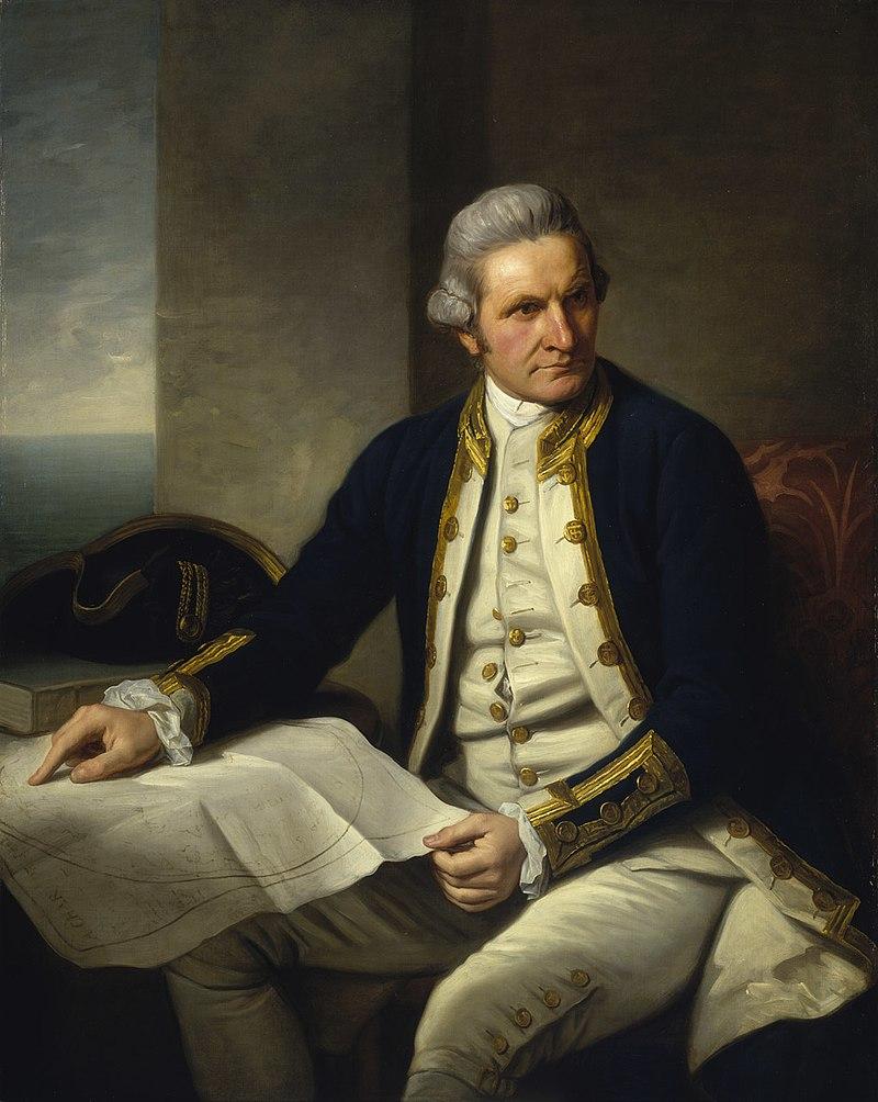 official portrait of captain cook