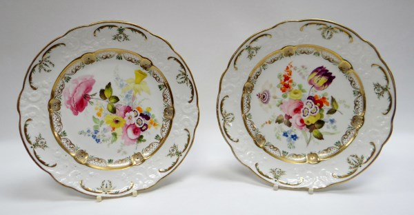 A Pair Of Swansea Porcelain Plates By William Pollard