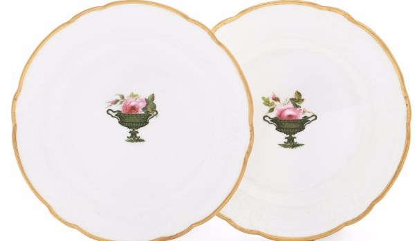 A pair of Nantgarw plates circa 1818-20
