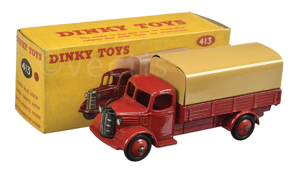 Dinky No 413 Austin Covered Wagon Cherry Red Body