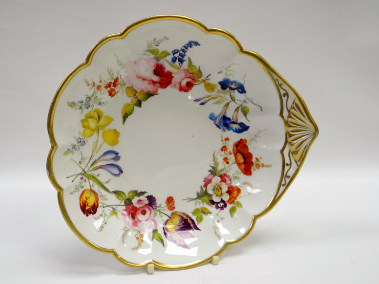 Swansea Porcelain Dish Possibly Probably Decorated by David Evans