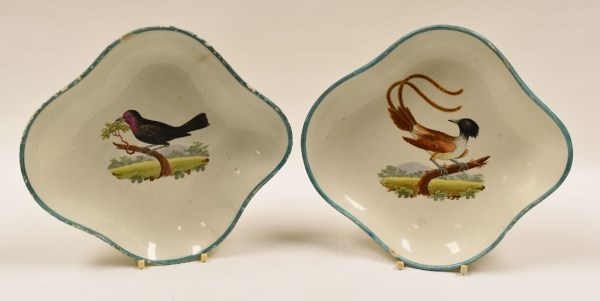 Swansea plates painted birds by William Weston Young