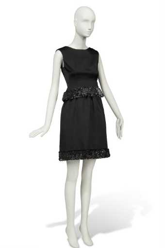 charade 1963 a cocktail gown of black satin