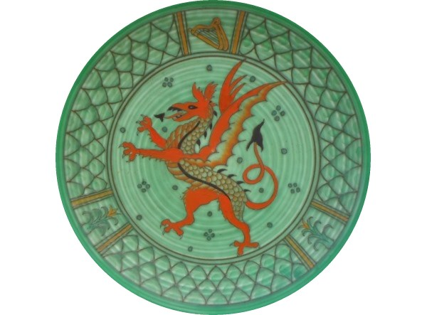 charlotte rhead plaque welsh dragon