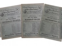 1930s West Ham United Football Programmes