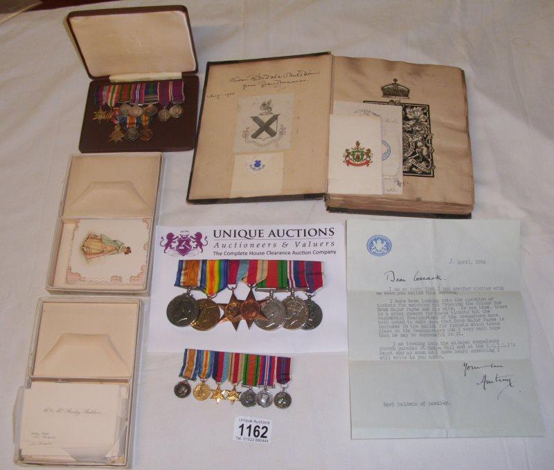 oliver baldwin medals son of stanley baldwin