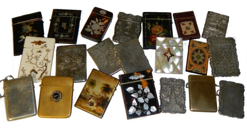 victorian calling card case collection
