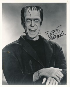 Fred Gwynne Herman Munster Signed Glossy Photograph