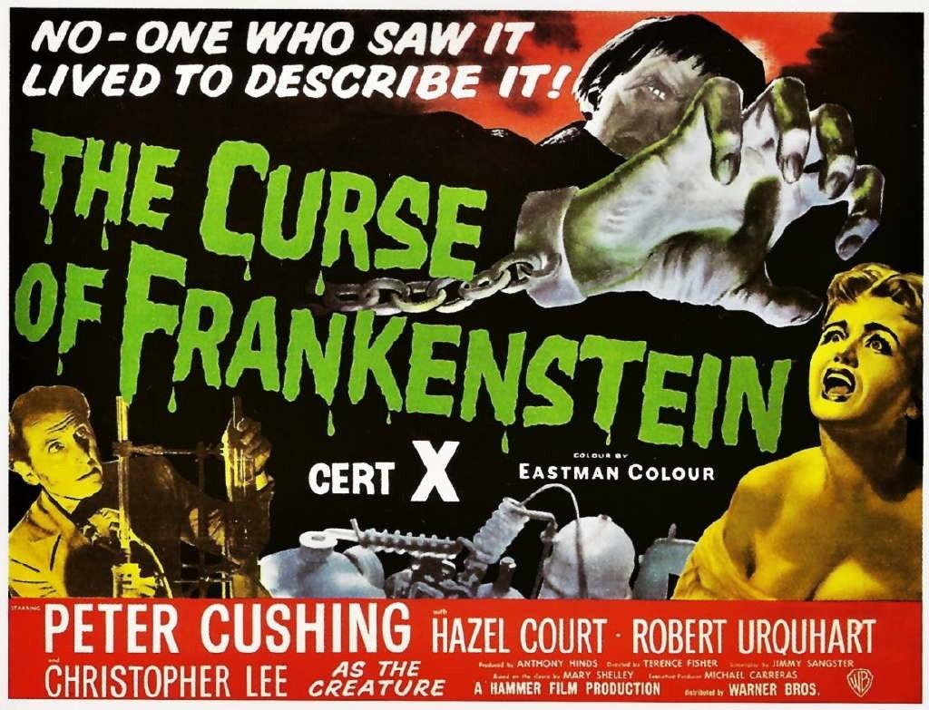 curse of frankenstein hammer poster