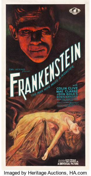 Discarded Frankenstein movie poster sells for $358,500 at Heritage Auctions