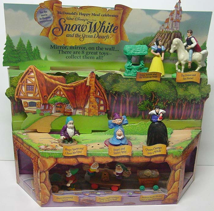 snow white mcdonalds premium toys
