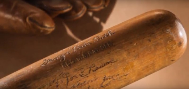 Babe Ruths Historic Bat That Struck 60th Homer in 1927