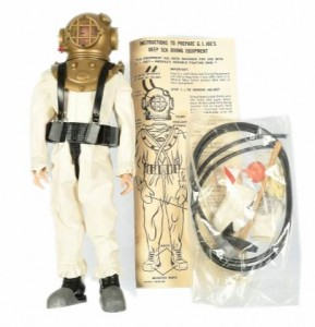 Hasbro Gi Joe Painted Head Deep Sea Diver