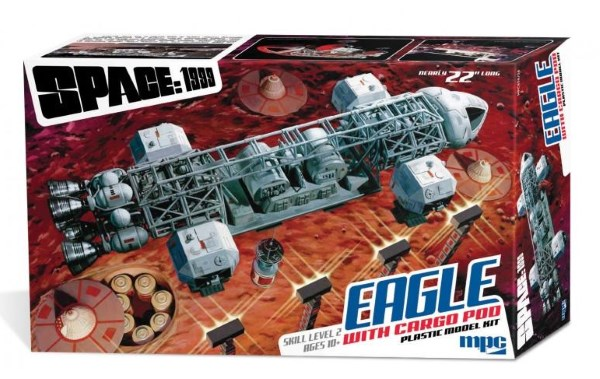 space 1999 eagle transporter model with cargo pod
