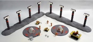 space 1999 nuclear waste area diorama layout