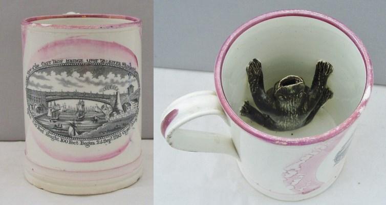 sunderland bridge frog mug