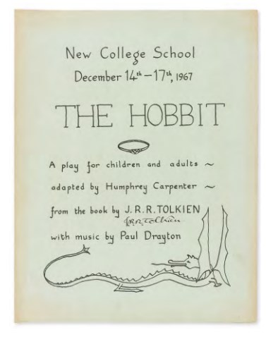 the hobbit signed programme