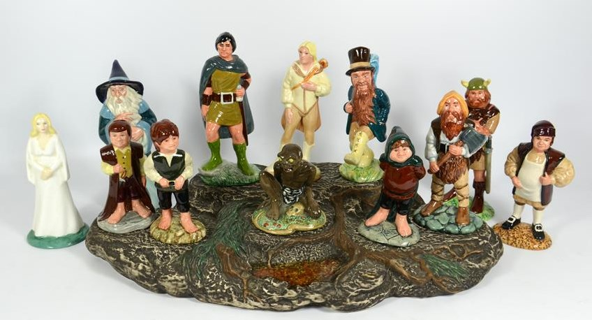 tolkien lord of the rings doulton collection