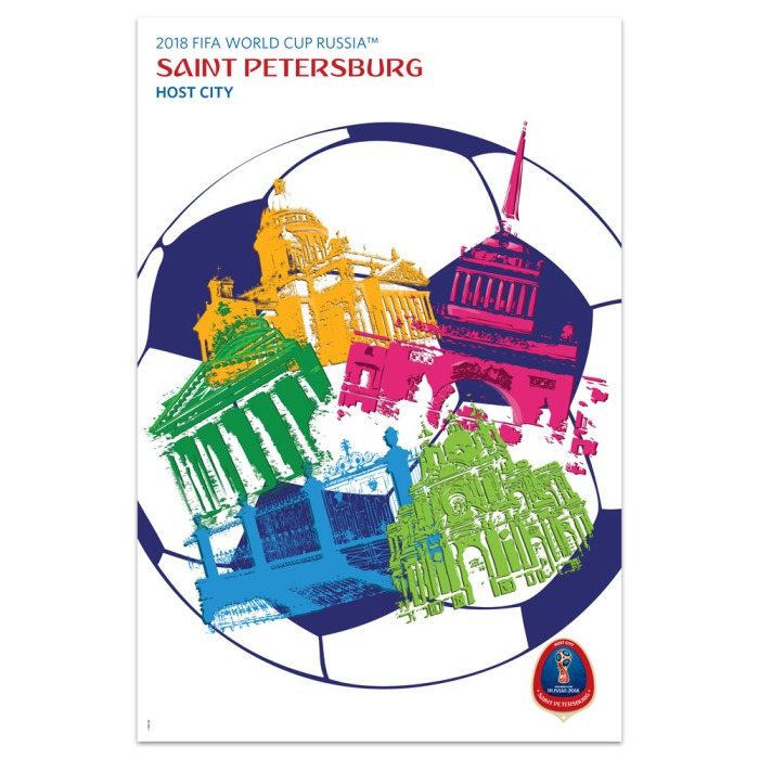 2018 FIFA World Cup Russia™ Poster Host City Saint Petersburg