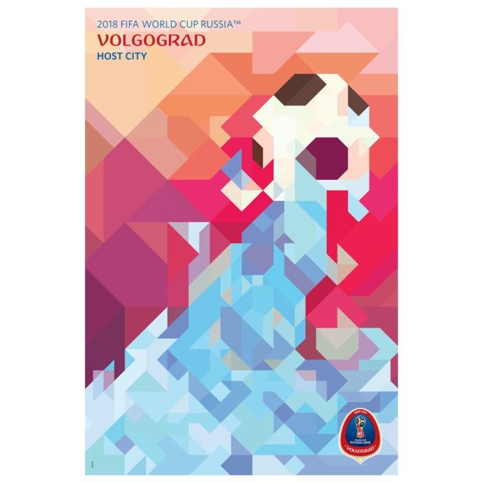 2018 FIFA World Cup Russia™ Poster Host City Volgograd