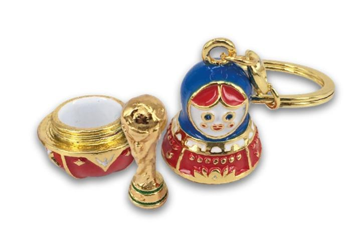 2018 FIFA World Cup Russia Keyring Matryoshka incl Trophy