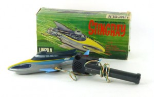 A Lincoln International remote control Stingray from the Gerry Anderson TV series