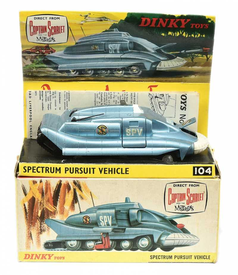 Dinky No 104 Captain Scarlet Spectrum Pursuit Vehicle with excellent box