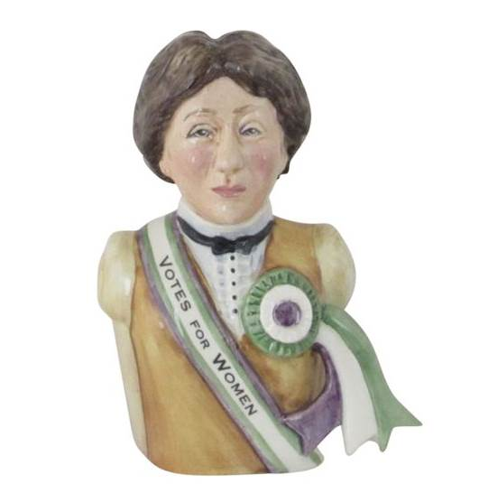 Emmeline Pankhurst Toby Jug Bairstow Pottery