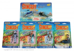 Matchbox Stingray figures on card