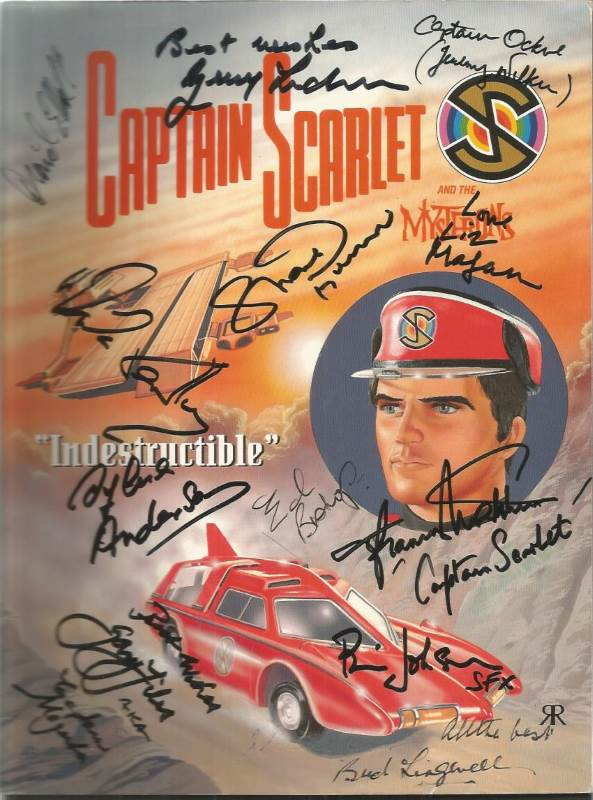signed Captain Scarlet comic including Gerry Anderson