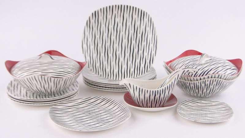 A Midwinter Zambesi pattern dinner service  by Jessie Tait