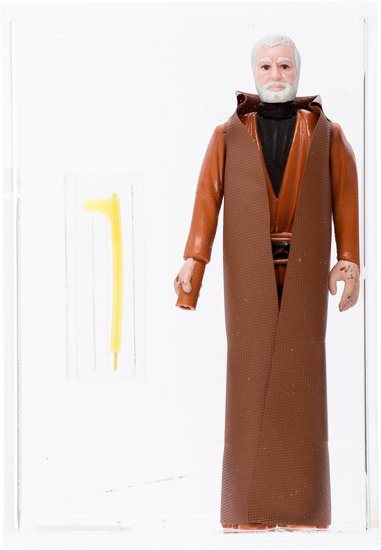 A hand-painted prototype of Ben Obi-Wan Kenobi from 1977