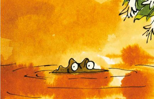 Quentin Blake Enormous Crocodiles eyes above the muddy water