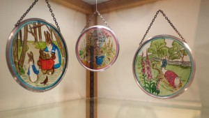 beatrix potter stained glass discs