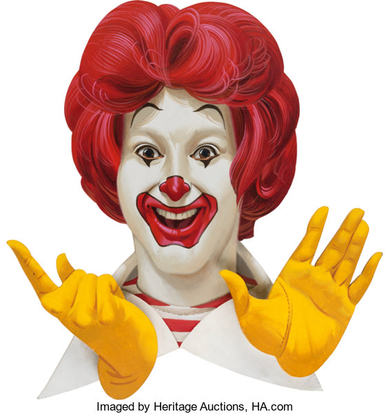 Ronald McDonald Prototype Wall Plaque