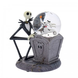 Jack & Zero Snow Globe Nightmare Before Christmas 25th Disney Store Japan