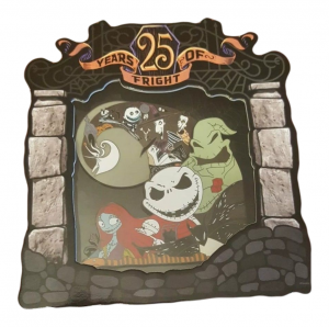 Nightmare Before Christmas 25th Anniversary Jumbo Pin Walt Disney World
