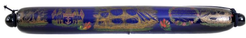 An Early 19th Century Large Bristol Blue Glass Mariners Rolling Pin