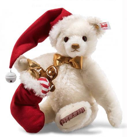 Steiff Sweet Santa Musical Teddy Bear 006562