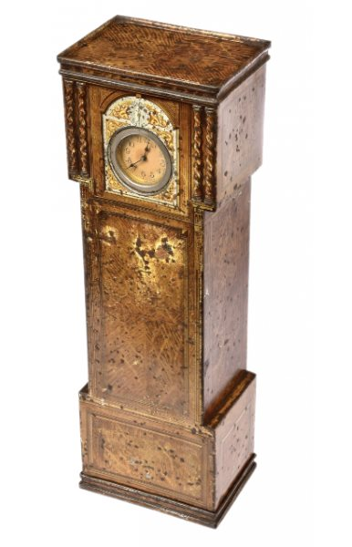 Victory V Grandfather Clock Confectionary Container Tin