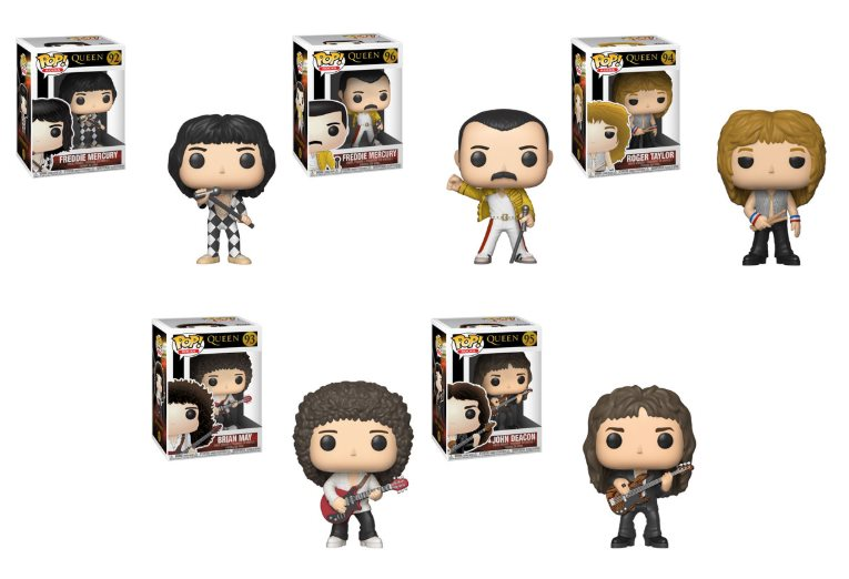 queen pop vinyl figurines