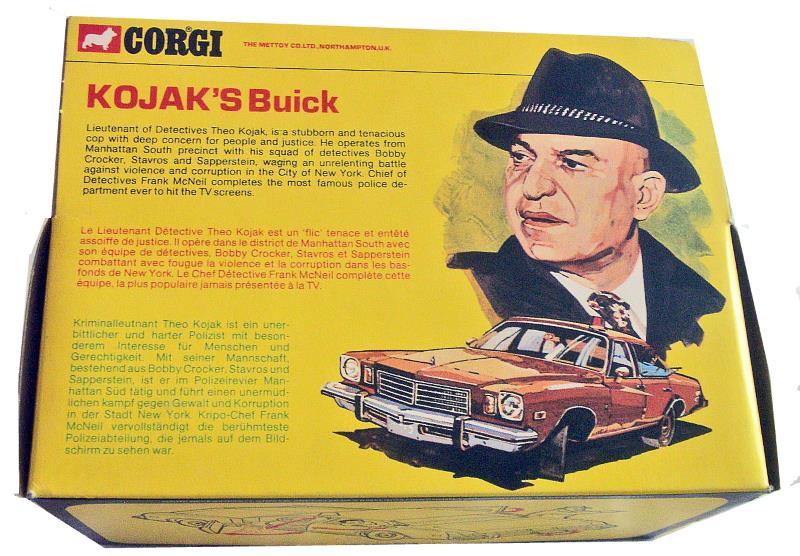 corgi kojak buick back of box