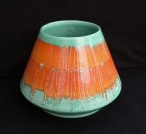 shelley harmony ware volcano vase