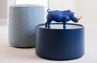 Bold Blue Gold Rhino from Lladro