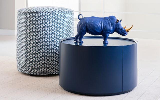 lladro blue gold rhino
