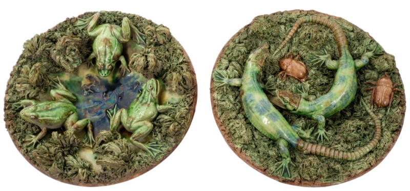 manuel mafra frogs and lizards palissy bowls
