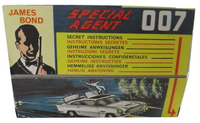 Reve rse of Display Corgi 261 James Bond Aston Martin DB5
