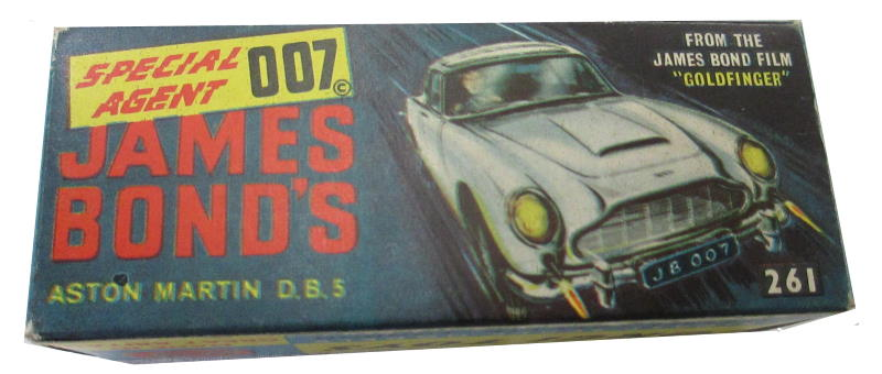 Corgi 261 James Bond Aston Martin DB5 box